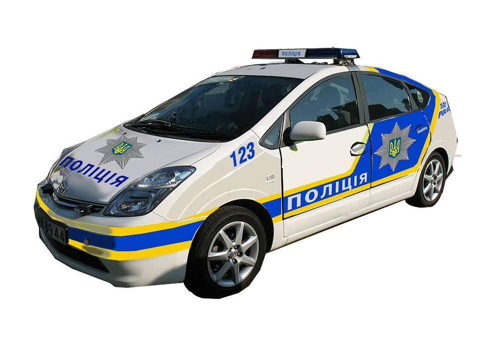 Поліцейський автомобіль на Фонд РИА
